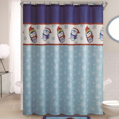 The Holiday Aisle Penguin Shower Curtain