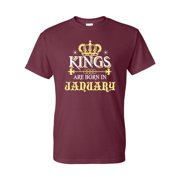 Kings Born in January Birthday Gift Mens  Short Sleeve