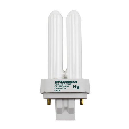 Sylvania 20705 - Cf13Dd/830/Eco - 13 Watt Cfl Light Bulb - Compact Fluorescent - 2 Pin Gx23-2 Base -