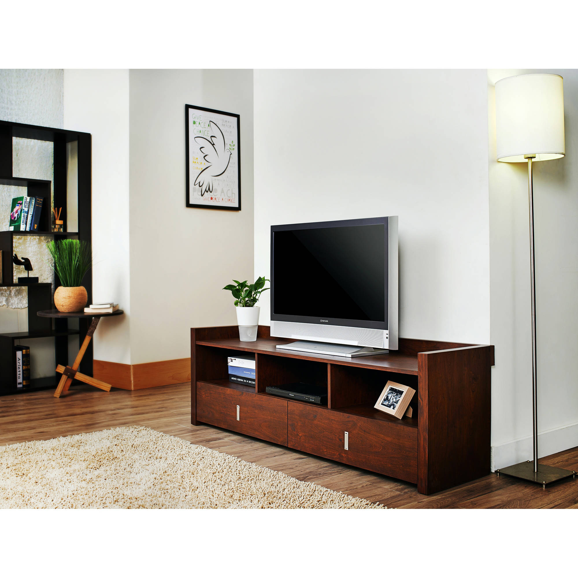 """Furniture of America Eleanora Contemporary TV Stand for up to 60"""", Multiple Colors"""