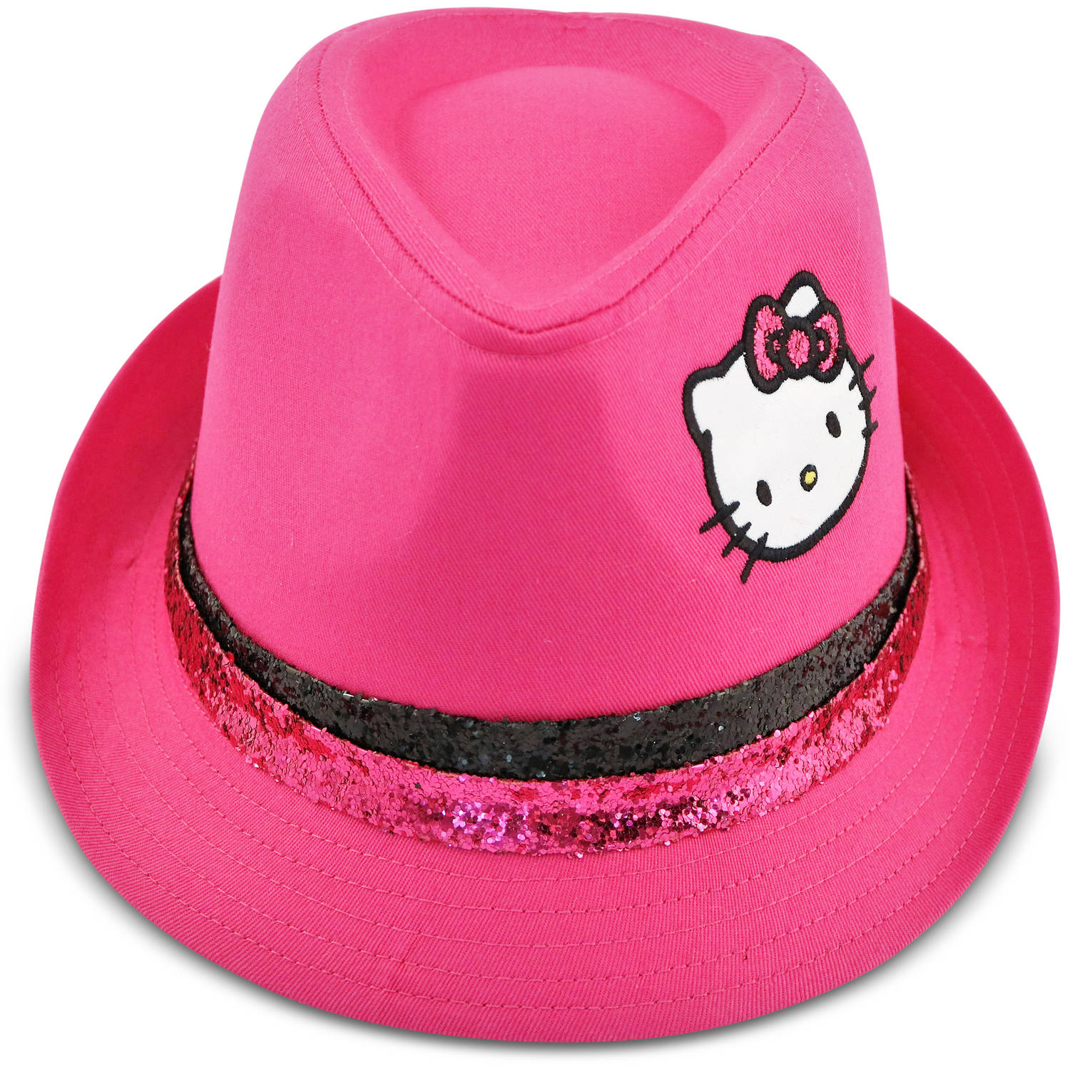 Hello Kitty twill pink fedora with double band
