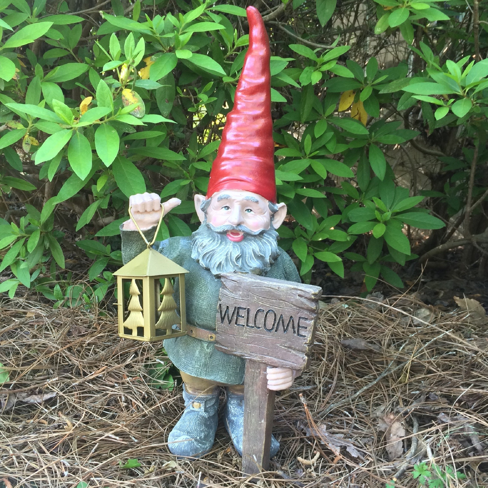 """Gnome In Garden: Homestyles 20""""H """"Rumple"""" The Classic Old World Garden"""