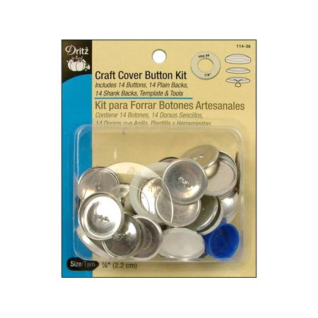 Dritz cover button kit craft 7 8 for Dritz craft cover button kit size 36
