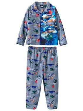 Planes Boys 'Turn Up the Heat' Coat Style Pajama Set, Toddler Sizes 2T-4T