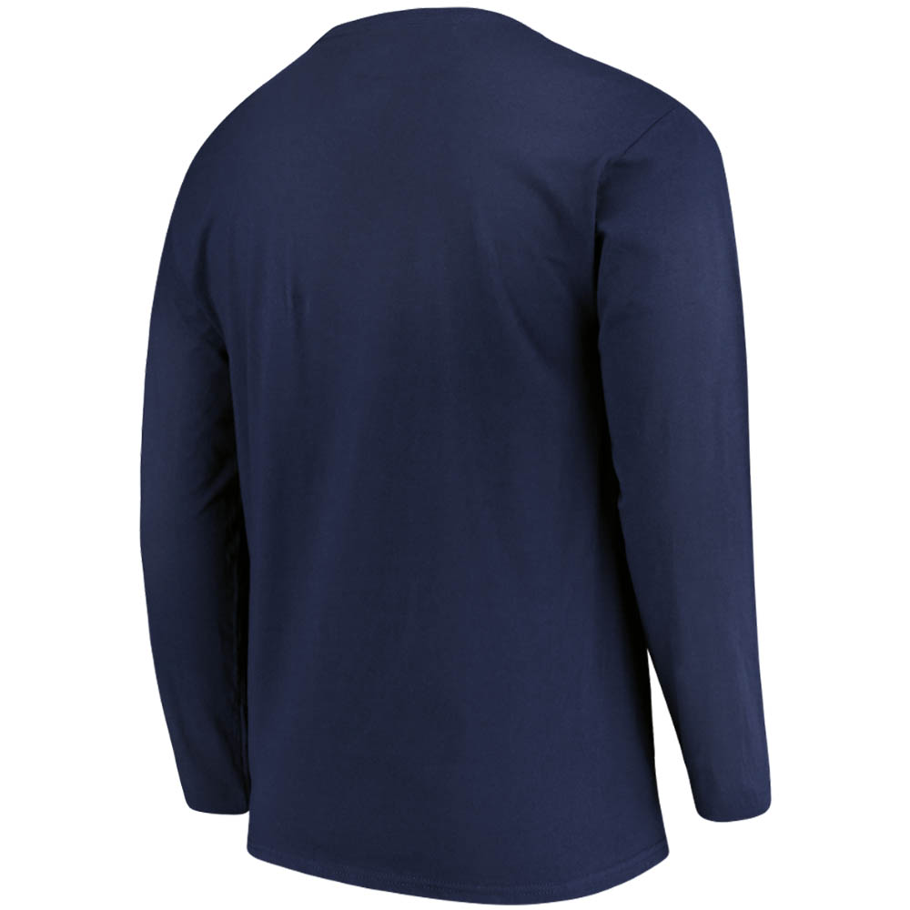 quality design 08b14 202f8 Men's Majestic Navy Atlanta Braves Box Cutter Long Sleeve T-Shirt