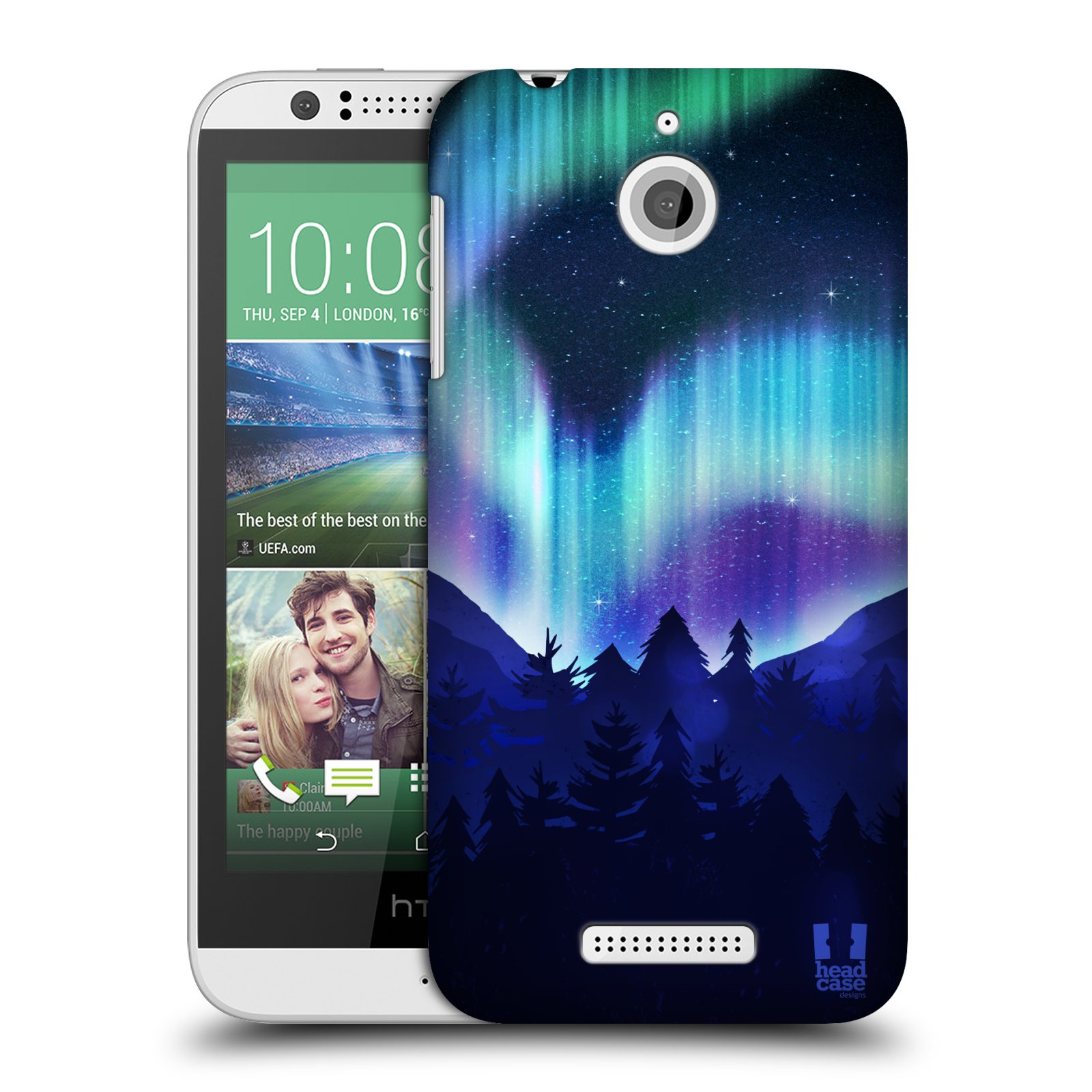 HEAD CASE DESIGNS NORTHERN LIGHTS HARD BACK CASE FOR HTC PHONES 2