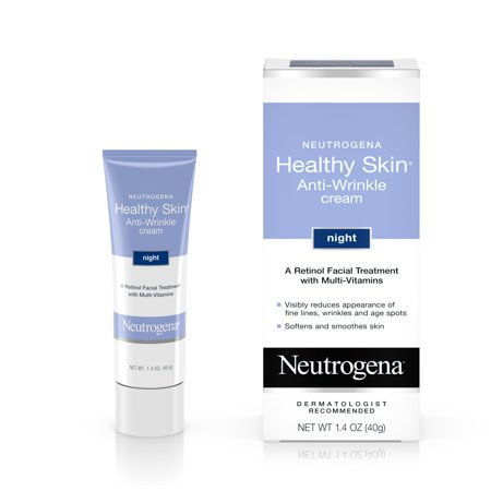 Neutrogena Healthy Skin Anti-Wrinkle Retinol Night Cream, 1.4 (Velvety Soothing Skin Cream)
