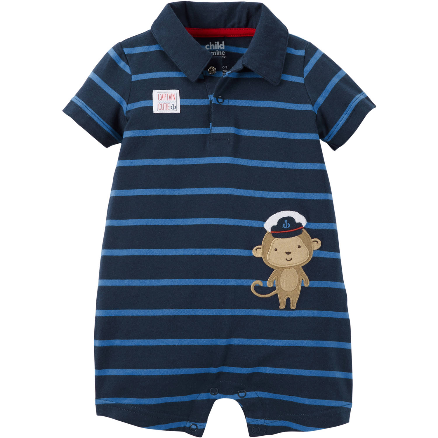 Child of Mine by Carter's Newborn Baby Boy Collared Romper