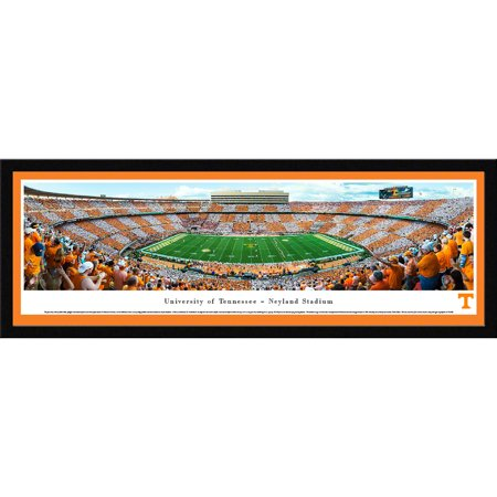 Tennessee Volunteers Football - Checkerboard Stadium, Blakeway Panoramas NCAA College Print with Select Frame and Single (Single Matboard)