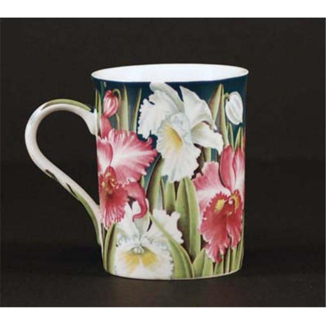 Euland China FL0-003O Set Of Two 12-Ounce Mugs - Orchid
