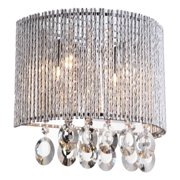 Crystalline Round 2 Light Crystals Wall Sconce