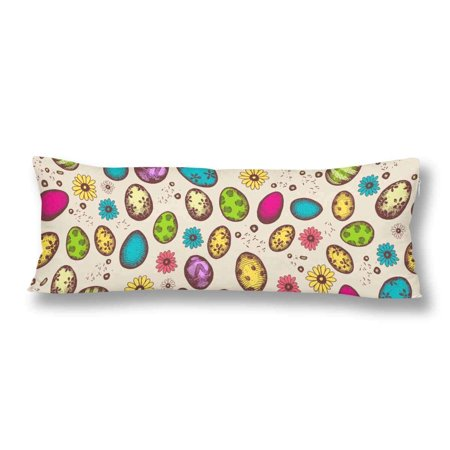 GCKG Seamless Pattern Easter Bright Eggs Body Pillow Covers Case Protector 20x60 inches - image 2 de 2