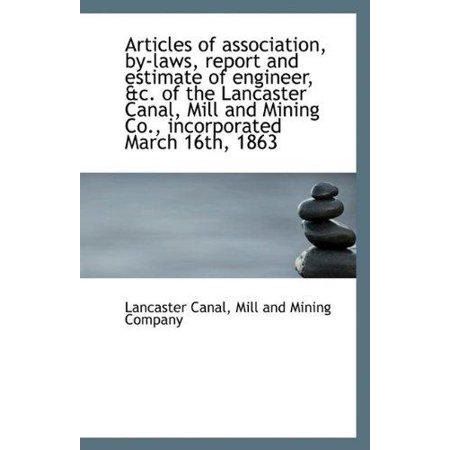 Articles of Association, By-Laws, Report and Estimate of Engineer, &C. of the Lancaster Canal, Mill - image 1 of 1