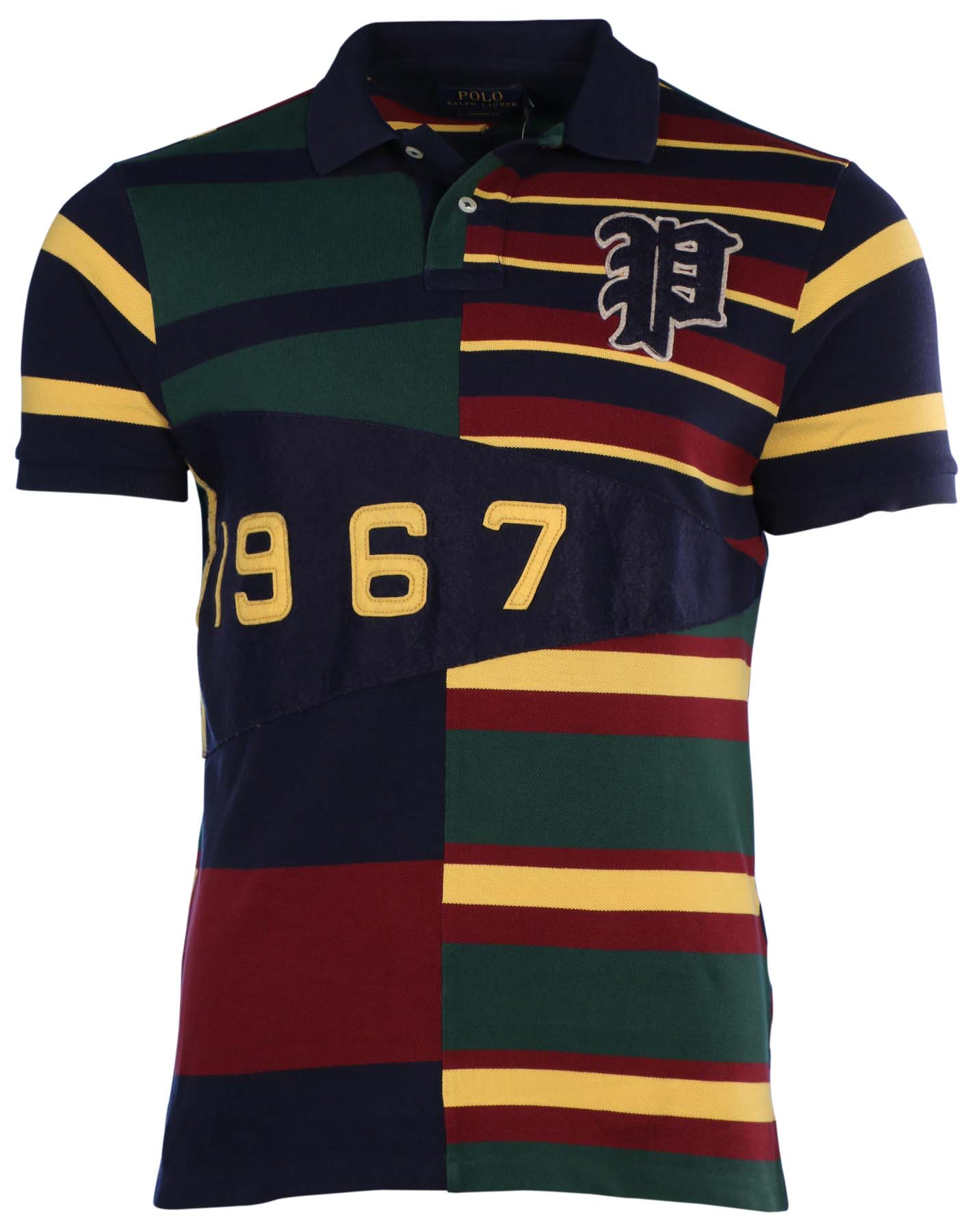 Polo Ralph Lauren Mens Custom Fit Pennant Mesh Polo Shirt French