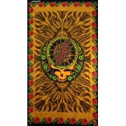 Sunshine Joy Grateful Dead 3D Steal Your Face & Roses Tapestry Tablecloth Wall Art Beach Sheet Huge 60x90 Inches - Amazi