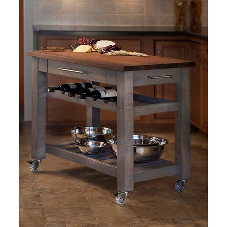 Martins Homewares Metro Mobile Kitchen Island with Solid ...