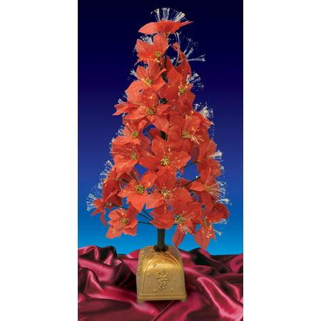4' Pre-Lit Color Changing Fiber Optic Red Poinsettia Christmas Tree - 4' Pre-Lit Color Changing Fiber Optic Red Poinsettia Christmas Tree