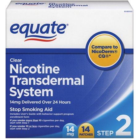 Equate Step Two Clear Transdermal System Nicotine Patches