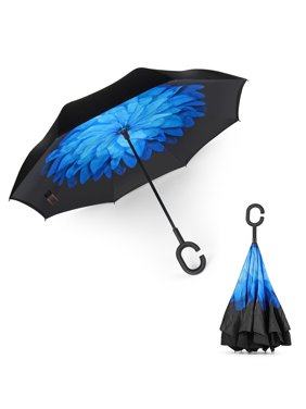 8a3d02ff20b16 Product Image Flexzion Double Layer Inverted Umbrella - Cars Reverse  Umbrella Inside Out Windproof UV Protection Big Straight