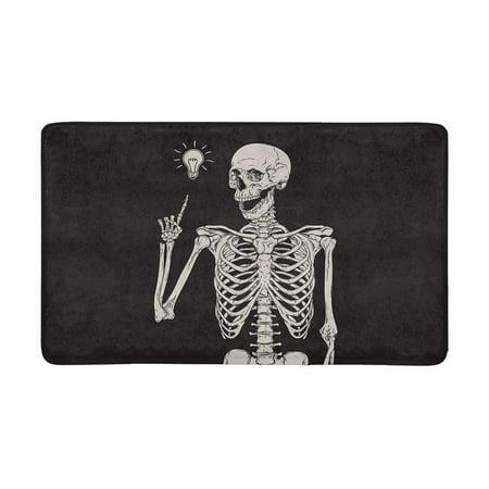 MKHERT Hipster Human Skeleton Has an Idea Doormat Rug Home Decor Floor Mat Bath Mat 30x18 inch](Welcome Home Baby Ideas)