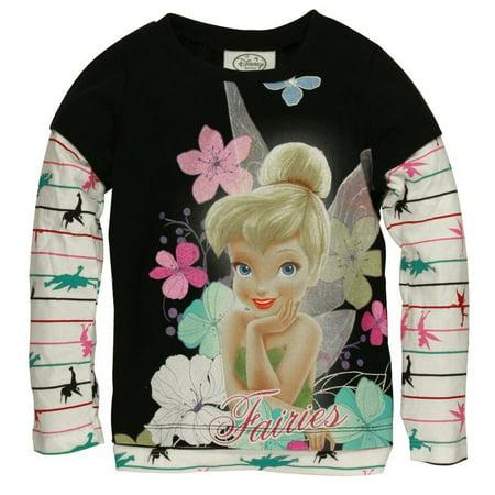 Tinkerbell - Cutie Tink Girls Juvy 2Fer Long Sleeve T-Shirt](Tinker Ball)