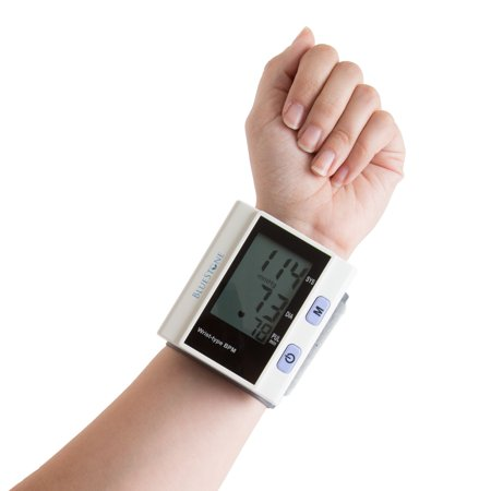 Automatic Wrist Blood Pressure Monitor with Digital LCD Display Screen- Fast BP and Pulse Monitoring and Adjustable Wrist Cuff by - Wrist Cuffs