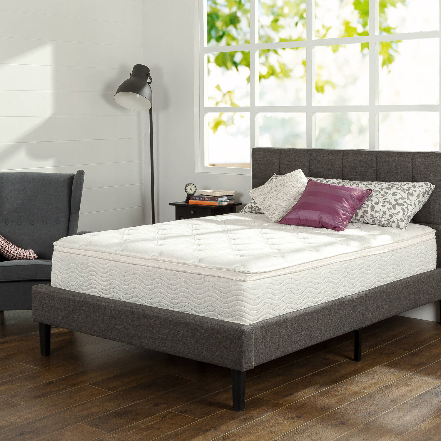 "Slumber 1 12"" Comfort Euro Box Top Spring Mattress, Multiple Sizes"