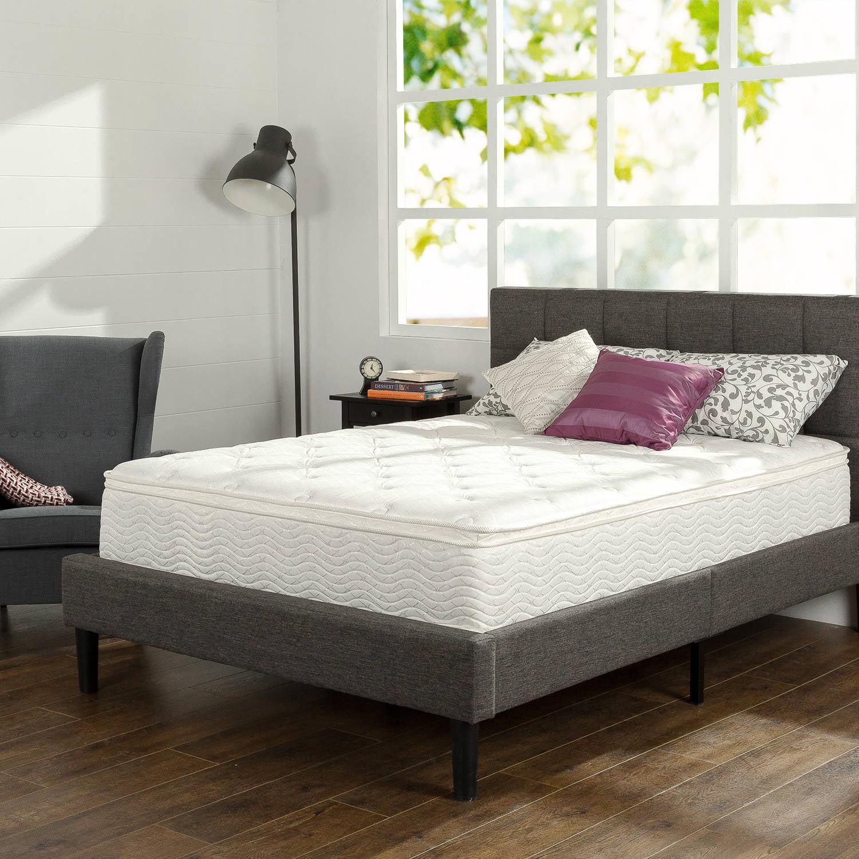 """Slumber 1 12"""" Comfort Euro Box Top Spring Mattress, Multiple Sizes"""