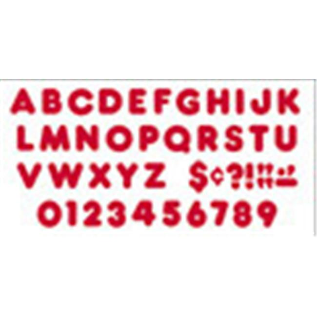 TREND ENTERPRISES T-79002 READY LETTERS 3 INCH CASUAL RED
