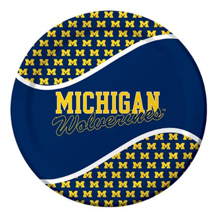 University of Michigan Paper Plates, 8 count - Party City In Michigan