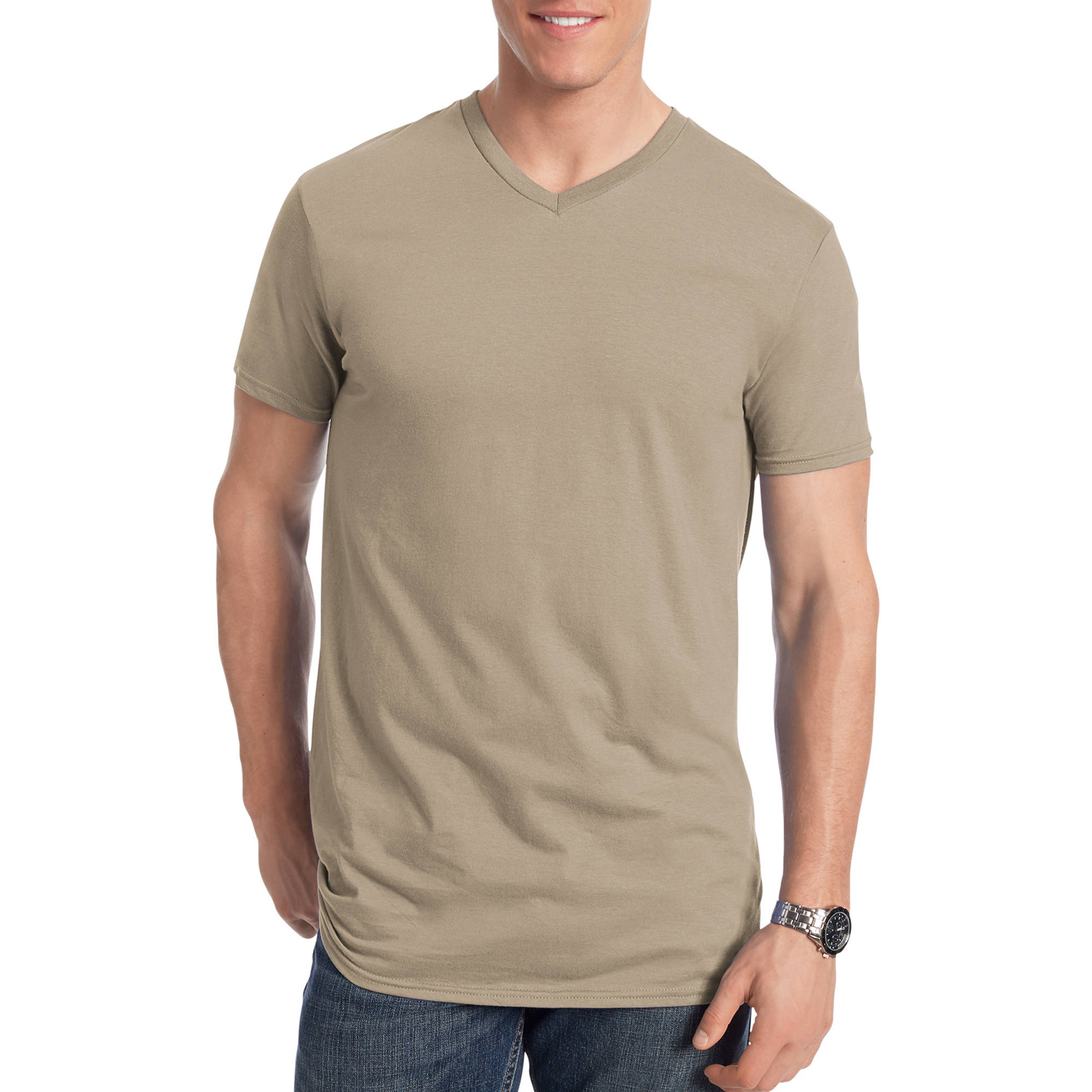 Hanes Men's Nano-T Short Sleeve V-neck