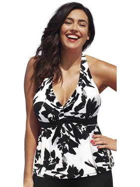 Swimsuits For All Women's Plus Size Halter Tankini Top
