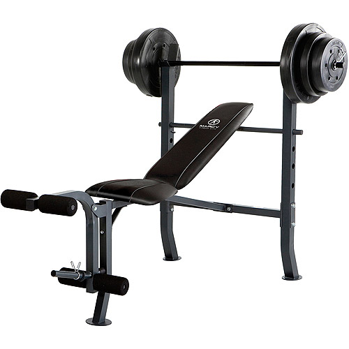 Marcy Standard Bench with 100 lb Weight Set, MD-2082W