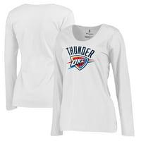 online retailer 4d8f8 b107c Product Image Oklahoma City Thunder Fanatics Branded Women s Plus Sizes  Team Primary Logo Long Sleeve T-Shirt