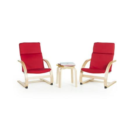 Kiddie Rocker Chairs Set - Red