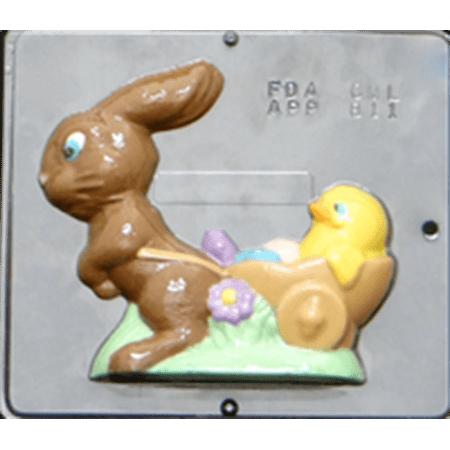 811 Bunny Cart Chocolate Candy Mold ()