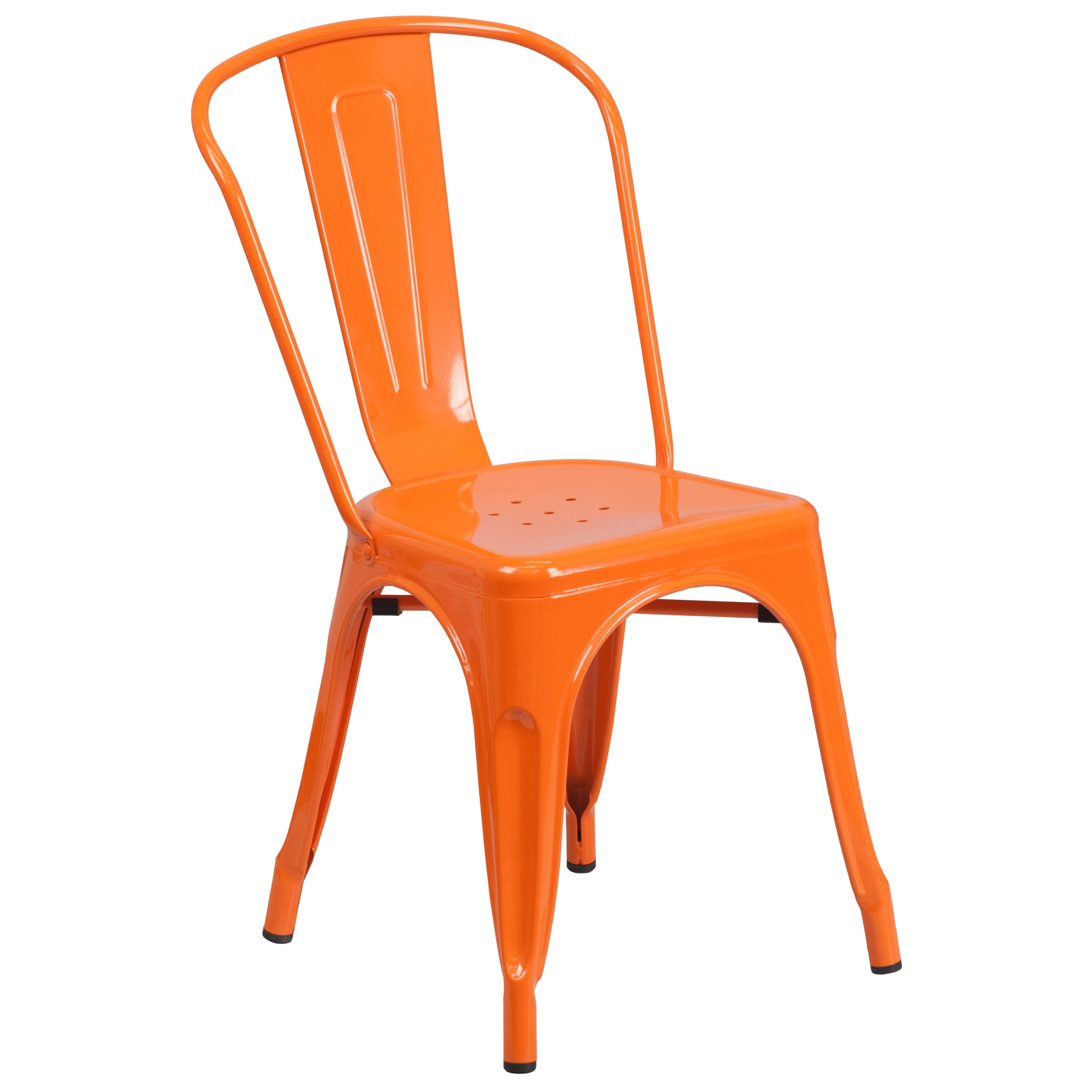 Flash Furniture Metal Indoor-Outdoor Stackable Chair, Multiple Colors