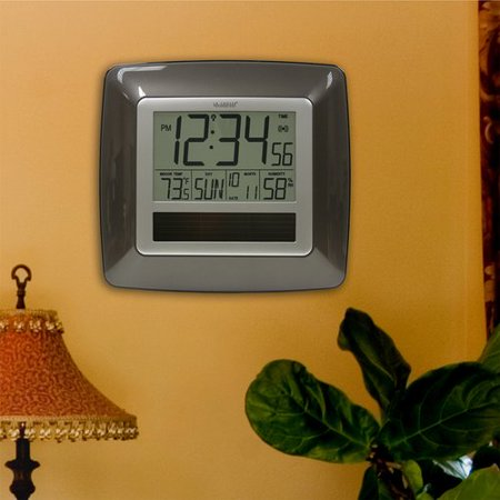 La Crosse Technology Solar Atomic Digital Wall Clock
