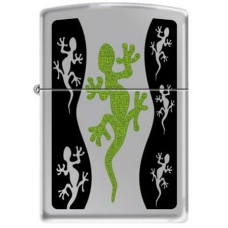 Zippo Green Lizard Gecko High Polish Chrome Windproof Lighter 21149 RARE (Polished Gecko)
