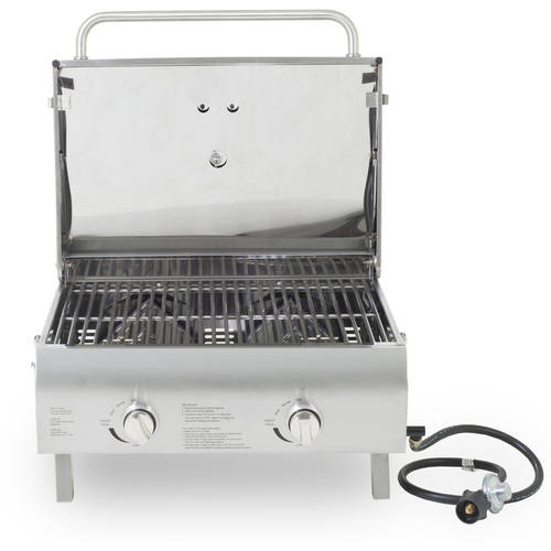 Pit Boss 2 Burner Portable Gas Grill Stainless Steel