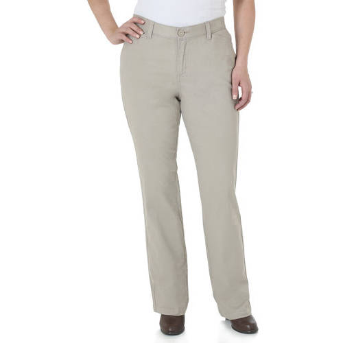 The Riders By Lee Women's Classic Straight Leg Stretch Woven Pants Available in Regular, Petite, and Long Lengths