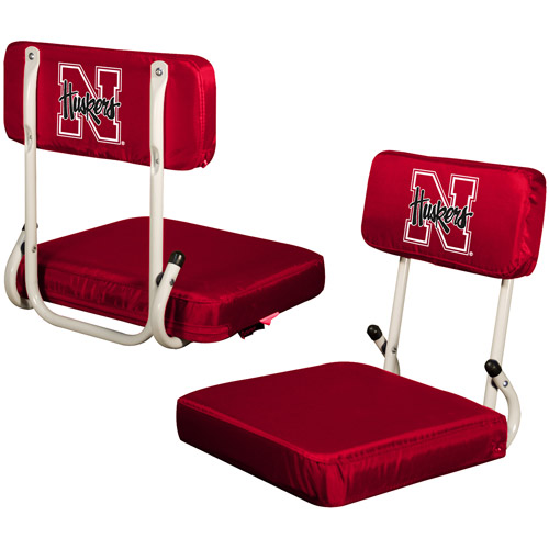 Logo Chair NCAA Nebraska Hard Back Stadium Seat