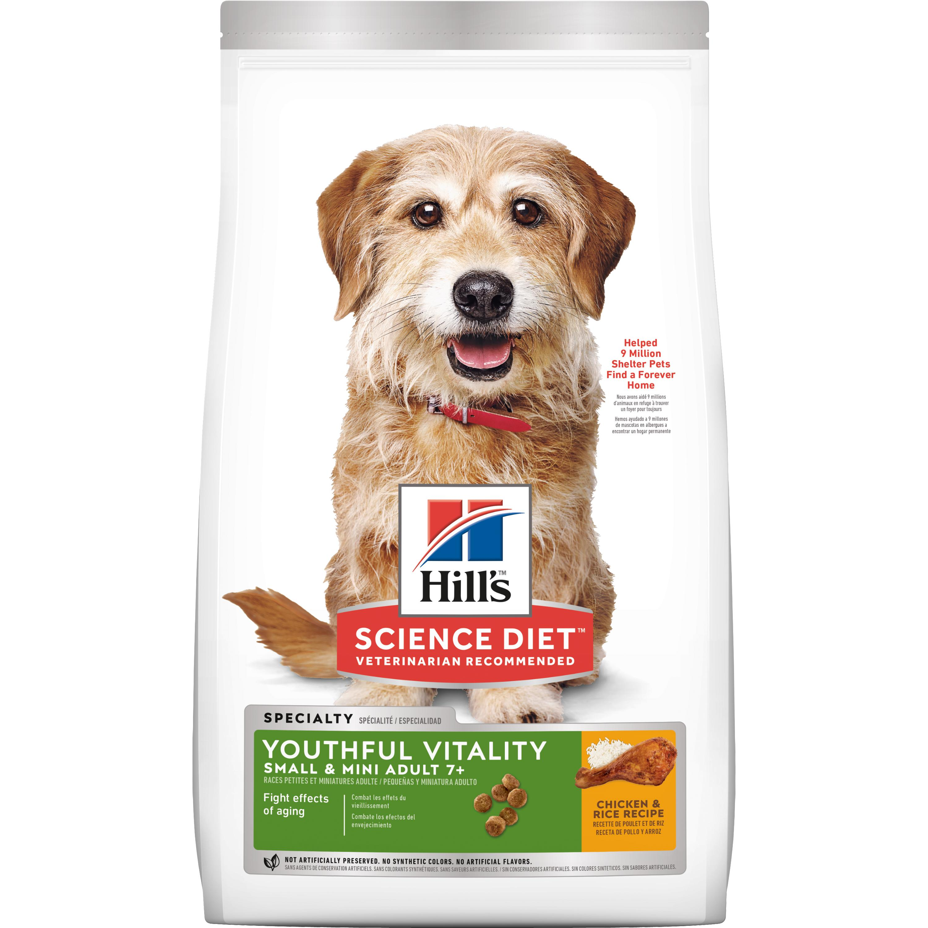 Hill's Science Diet (Spend $20,Get $5) Adult 7+ Youthful Vitality Small & Mini Chicken & Rice Recipe Dry Dog Food