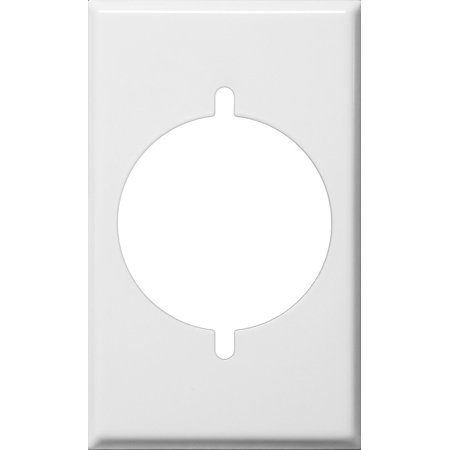Stainless Steel Metal Wall Plates 1 Gang Metal Range , Dryer Cover White Dryer Wall Plate
