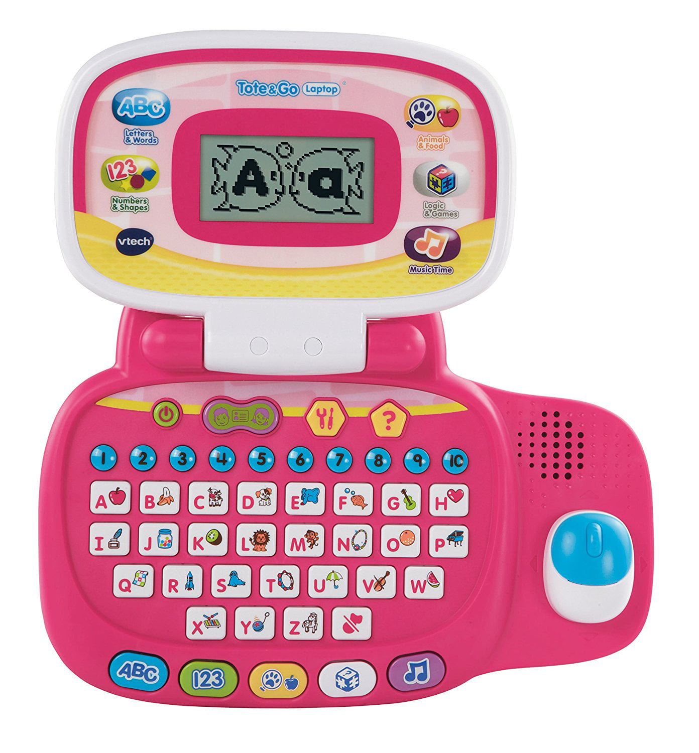 Tote and Go Laptop, Pink, Kids laptop offers 20 learning activities that teach 60+ words,... by