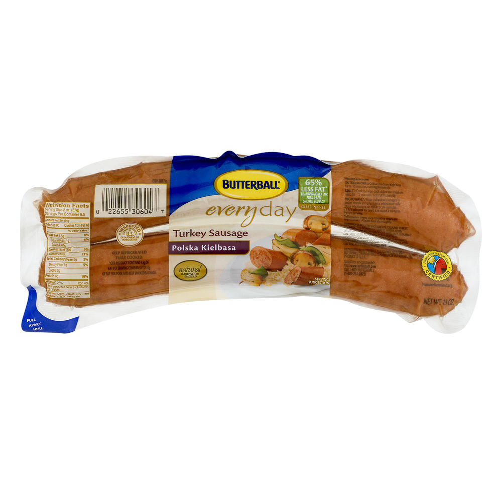 Butterball Everyday Recipe Starters Polska Kielbasa Turkey Sausage, 14 oz