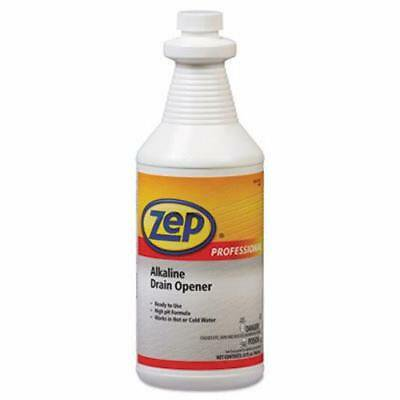 Zep Professional Alkaline Drain Opener Quart Bottle