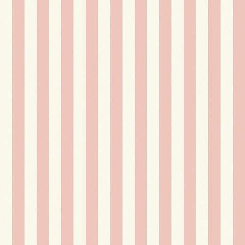 "Blue Mountain 1"" Stripe Wallcovering, Blush Pink and White"
