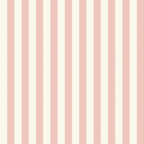 "Blue Mountain 1"" Stripe Wallcovering, Blush Pink and White"