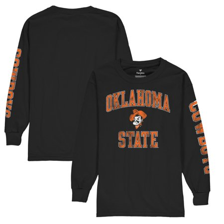 State Cowboys Ncaa Spring (Oklahoma State Cowboys Fanatics Branded Youth Distressed Arch Over Logo Long Sleeve T-Shirt - Black)